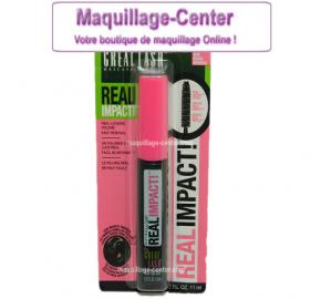 Mascara Great Lash Real Impact Blackest black Gemey Maybelline