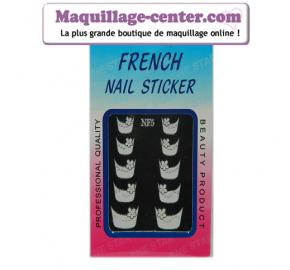 10 stickers French manucure avec strass