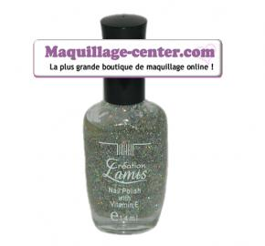 Vernis paillettes arc en ciel de Creation Lamis